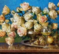 Белые синий розы 3