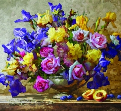Ирисы и розы смик