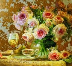 Розы блюдце 2смик